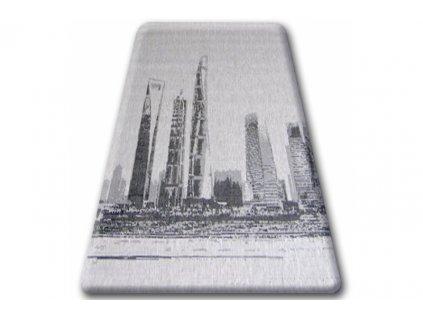 Koberec Sisal Floorlux 20240 New York stříbrný / černý