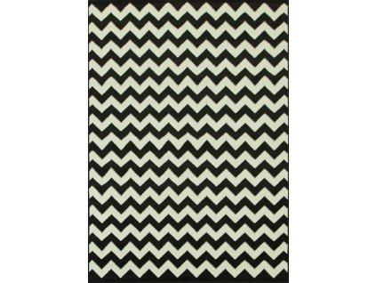 Kusový koberec WHITE 1203/18 černý/bílý