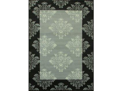Kusový koberec WHITE 1218/91 černý/šedý