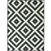 Kusový koberec Romby černý / bílý pogumovaný