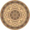 Kulatý vlněný koberec Dywilan Polonia Kordoba Sepia2