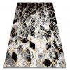 Moderní kusový koberec GLOSS 409A 82 Šestihran 3D šedý / zlatý / černý