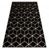 Moderní kusový koberec GLOSS 409C 86 Šestihran 3D černý / zlatý