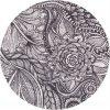 Kulatý koberec vlněný Agnella Splendor Hejk Květy Šedý
