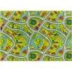 Dětský kusový koberec Uličky 12 zelený