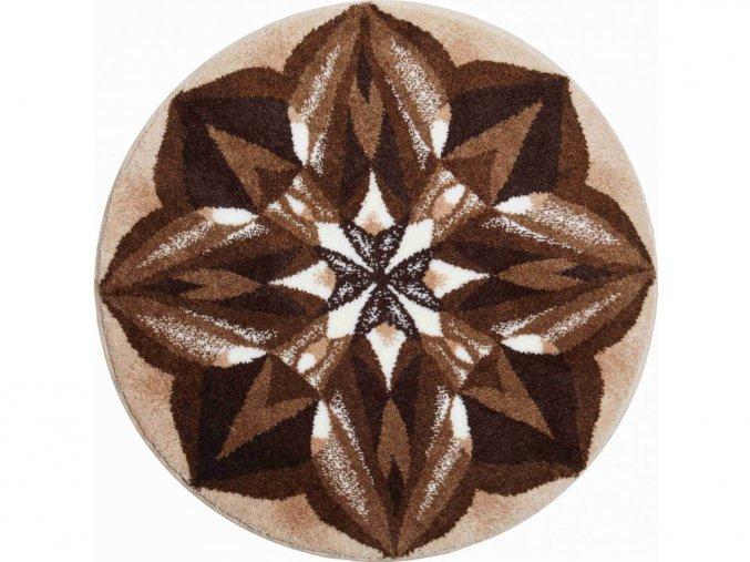Koupelnová předložka Grund Mandala - Smysluplnost hnědá
