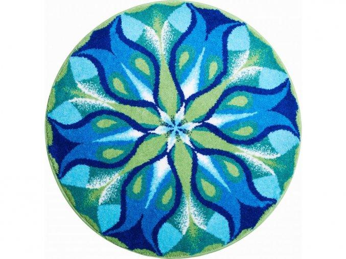 Koupelnová předložka Grund Mandala - Tichá zář modrá