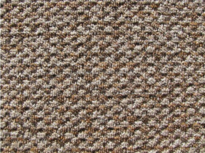 Metrážový koberec bytový Robust Filc 7517 hnědý - šíře 4 m (Šíře role Cena za 1 m2)