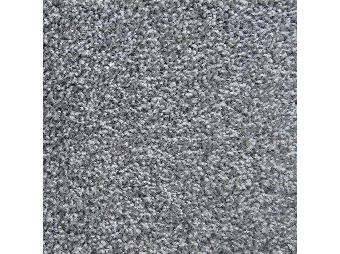Metrážový koberec bytový Tramonto Filc 6394 šedý - šíře 4 m