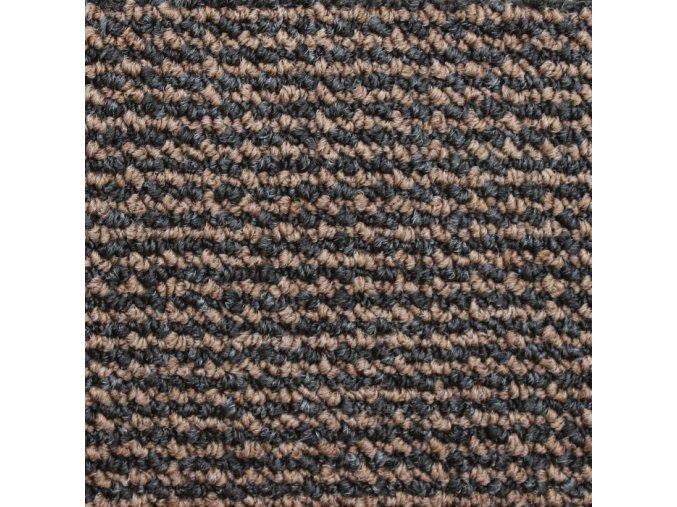 Zátěžový koberec metráž Tango AB 7857 hnědý - šíře 4 m (Šíře role Cena za 1 m2)