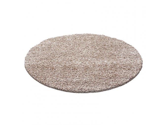 Chlupatý kusový koberec Life Shaggy 1500 béžový (Typ kulatý 80 cm)