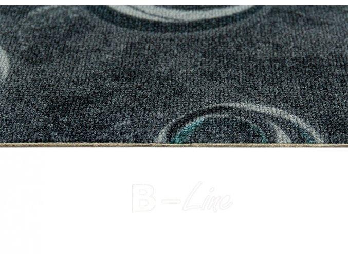 Metrážový koberec bytový Drops 99 šedý - šíře 5 m (Šíře role Cena za 1 m2)