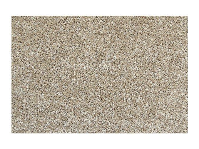 Metrážový koberec bytový Serenity 650 hnědý - šíře 3 m