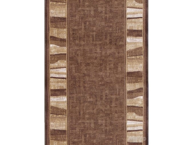 Moderní koberec běhoun Linea 44 hnědý