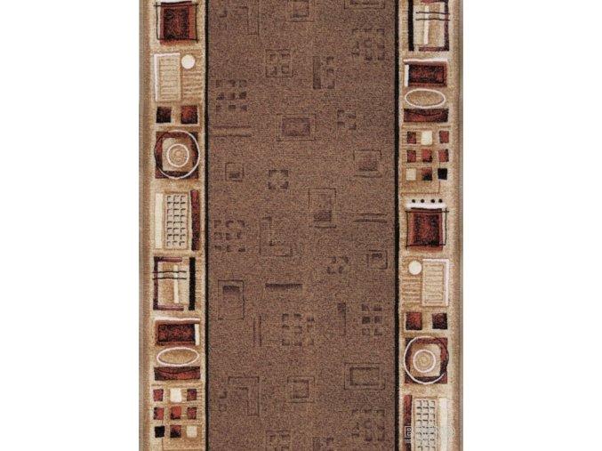 Moderní koberec běhoun Jena 44 hnědý (Šíře role šíře 120 cm)
