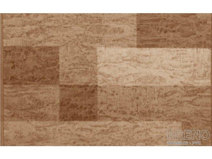Moderní koberec běhoun Icona 33 světle hnědý