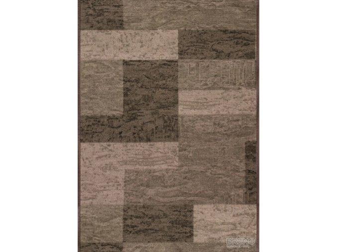 Moderní koberec běhoun Icona 44 hnědý (Šíře role šíře 120 cm)