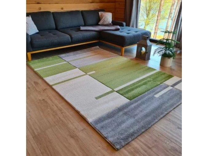 Moderní kusový koberec Hawaii 1310/01 Green | zelený