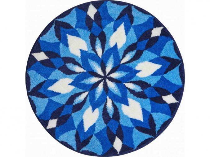 Koupelnová předložka Grund Mandala - Joya modrá (Typ 100x100 cm kruh)