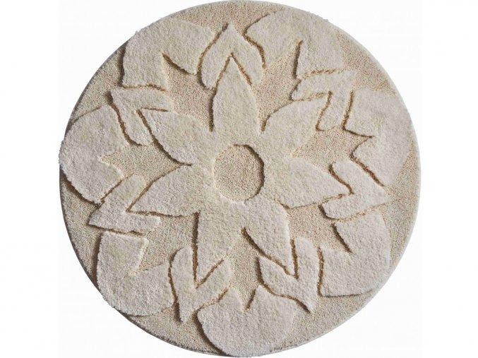 Koupelnová předložka Grund Mandala Bio - Senso | přírodní (Typ 100x100 cm kruh)