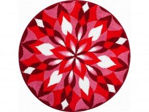 Koupelnová předložka Grund Mandala - Křídla radosti červené