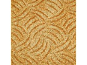Metrážový koberec bytový Tango Filc 283 žlutý šíře 5 m