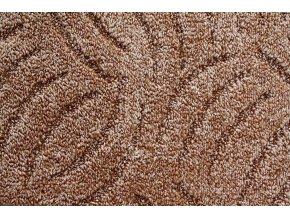 Metrážový koberec bytový Tango Filc 822 hnědý - šíře 5 m (Šíře role Cena za 1 m2)