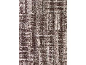 Metrážový koberec bytový Marioka 17446 hnědý šíře 3,5 m