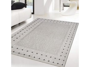 Moderní (Buklák) kusový koberec Floorlux Silver/Black 20329