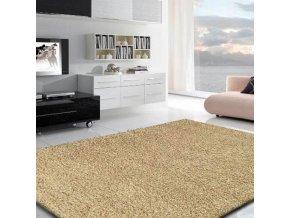 Chlupatý kusový koberec Shaggy Plus béžový 928 (Typ 200x290 cm)