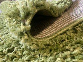 Chlupatý kusový koberec Life Shaggy 1500 zelený (Typ kulatý 80 cm)