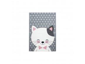 Dětský kusový koberec Kids 550 Pink | růžový (Typ 80x150 cm)