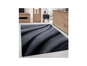 Moderní kusový koberec Miami 6630 Black | černý (Typ 80x300 cm)