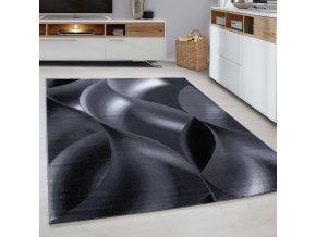 Moderní kusový koberec Plus 8008 Black | černý (Typ 80x300 cm)