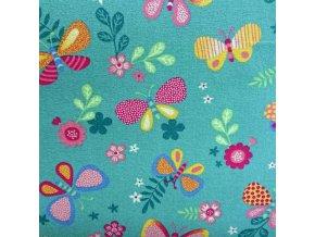 Dětský metrážový koberec Motýlek 8204 - šíře 4 m (Šíře role Cena za 1 m2)