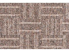 Metrážový koberec bytový Rio 860 hnědý - šíře 4 m