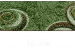 Metrážový koberec bytový Drops 24 zelený - šíře 4 m (Šíře role Cena za 1 m2)