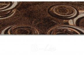 Metrážový koberec bytový Drops 43 hnědý - šíře 5 m (Šíře role Cena za 1 m2)