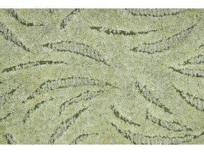 Metrážový koberec bytový Ivano 626 zelený šíře 5 m