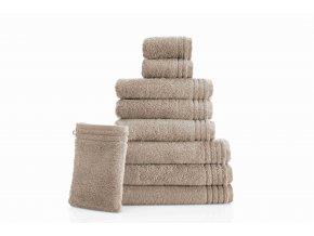 Bavlněné ručníky a osušky GRUND Memory | hnědé