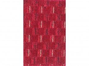 Metrážový koberec bytový Valencia  červený - šíře 4 m