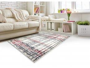 Moderní kusový koberec Lotto 406FM6W | šedý