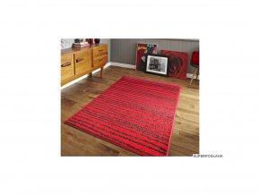 Moderní kusový koberec Lotto 562/FM6O | červeno-černý