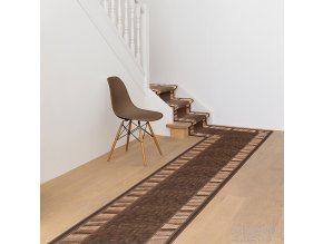 Moderní koberec běhoun Linea 33 světle hnědý