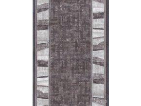 Moderní koberec běhoun Linea 97 šedý (Šíře role šíře 100 cm)