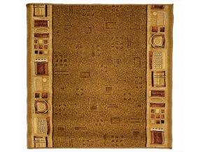 Moderní koberec běhoun Jena 35 světle hnědý