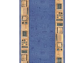 Moderní koberec běhoun Jena 77 modrý (Šíře role šíře 120 cm)