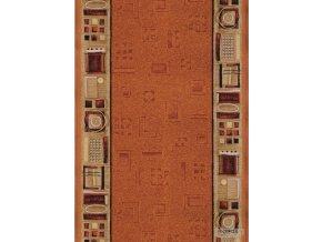 Moderní koberec běhoun Jena 84 oranžový (Šíře role šíře 120 cm)