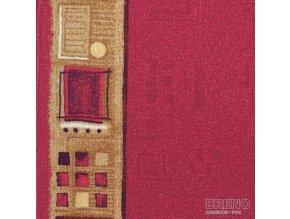 Moderní koberec běhoun Jena 10 červený