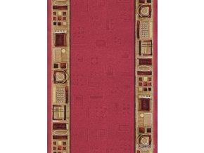 Moderní koberec běhoun Jena 10 červený (Šíře role šíře 120 cm)